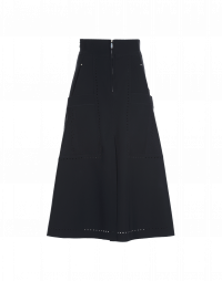 FOND-OF: Navy A-line skirt in bonded Sensitive®