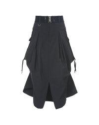 PLIE: Navy contemporary cargo pocket skirt