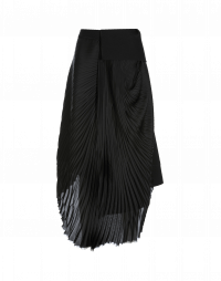 PENCHANT: Double layer pleated skirt