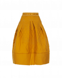THANKFUL: Gonna giallo oro trapuntata