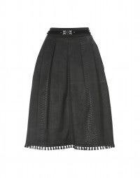 GRADUATE: Satin embossed snakeskin print skirt