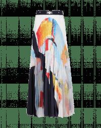 PLICATE: Multi-colour sunray pleated skirt