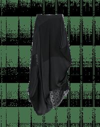 NOCTURNE: Black matt and shine satin and organza skirt