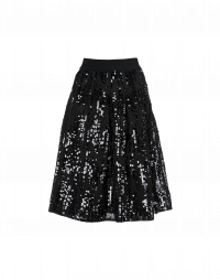SOULFUL: Bell shape skirt in sequin mesh