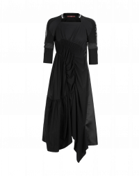 SPIRAL: Curved seam jersey dress