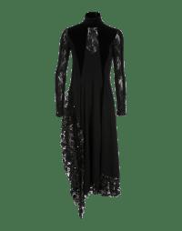 ELITIST: High neck multi-fabric dress