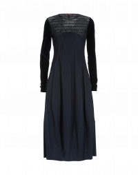 MESMERIZE: Navy Sensitive® dress with tech lace yoke