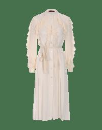 UNIQUE: Cream tech crêpe and georgette dress
