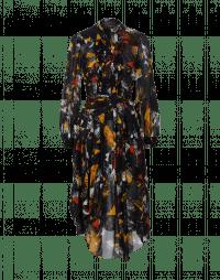 BRILLIANCE: Shirt-waist dress in abstract multi-colour print