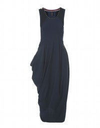 REHEARSE: Deep blue Sensitive® tulip dress