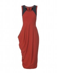 REHEARSE: Pillar-box Red Sensitive® tulip dress