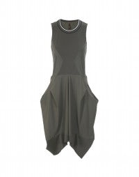 BRAQUE: Khaki Racer back layer Sensitive® dress