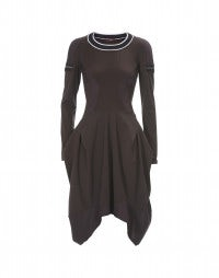 BOCAROLLE: Mulberry multi panel fit and flare dress