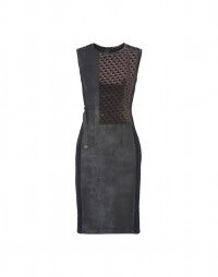 SUBLIME: Raised dogtooth matelassé sheath dress