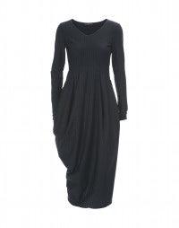 SLENDER: Fine lurex pinstripe wrap dress