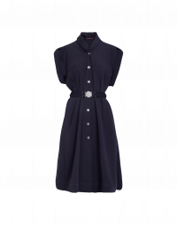 UNTOLD: Navy tech twill short sleeve dress