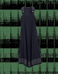 JEALOUS: Abito-salopette in jersey blu navy