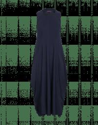 FAVOUR: Abito blu con scollatura quadrata e drappeggio