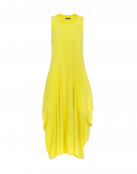 FAVOUR: Square neck dress with draped back