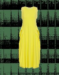 ACCENTUATE: Abito giallo con drappeggio doppio