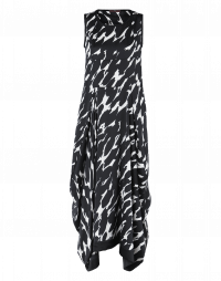 ALL OUT: Black and white brushstroke print dress