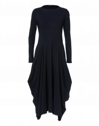 EXCLAIM: Navy high waist dress with full skirt