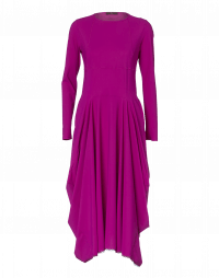 EXCLAIM: Cyclamen high waist dress with full skirt