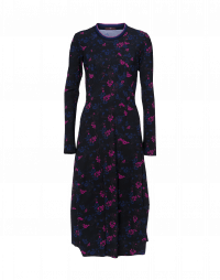 AFFABLE: Long line tulip shaped dress in floral jersey