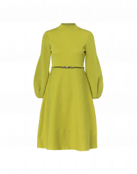 AGREE: Abito in maglia tecnica verde chartreuse