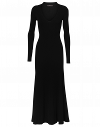 DESCENT: Long slim knitted dress