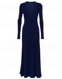 DESCENT: Long slim knitted dress
