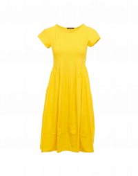 SUBLIME: Short sleeve dress in yellow technical jersey