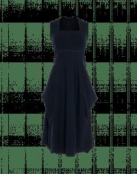FAVOUR: Square neck dress in metallic pinstripe jersey