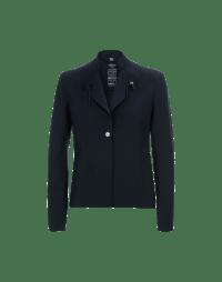 AD-LIB: Navy single breasted laser cut jacket