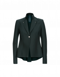 AD-LIB: Winter green single breasted laser cut jacket