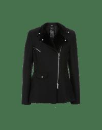 DEPICT: Giacca nera con revers in eco pelliccia