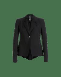 AD-LIB: Giacca nera in jersey tecnico a taglio laser