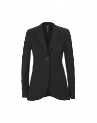 BOSUN: Black sleek fit longer line jacket