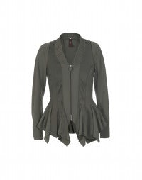 TELLTALE: Khaki diamond hem jacket