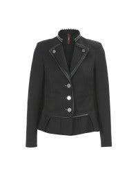 FLOTILLA: Black superfine twill jacket