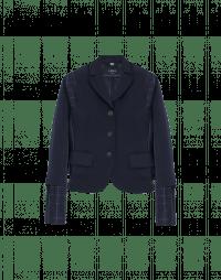 SMALL TALK: Short jacket in tech twill and taffeta