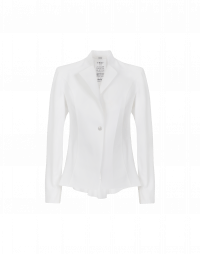 AD-LIB: White single breasted jacket