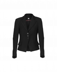 ALIAS: Short fitted jacket with double edge revers