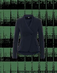 FORTUNATE: Giacca con collo stile kimono in twill tecnico e raso blu navy