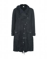 POACH: Navy hooded tech parka