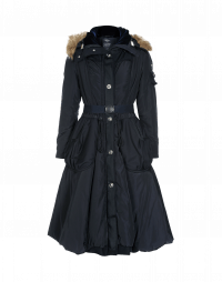 BUNDLE UP: Ultra-light outerwear tech polyester parka-coat