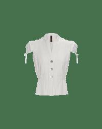 TRANSFORM: Gilet bianco con manica ad aletta