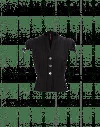 TRANSFORM: Black cap sleeve gilet