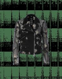 UNITY: Floral organza biker style jacket