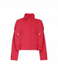 SURGE: Wide jacket in red tech
